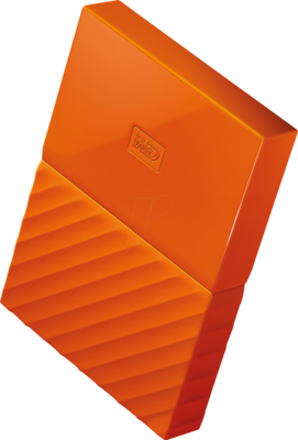 WD 2TB My Passport USB External Hard drive, Orange