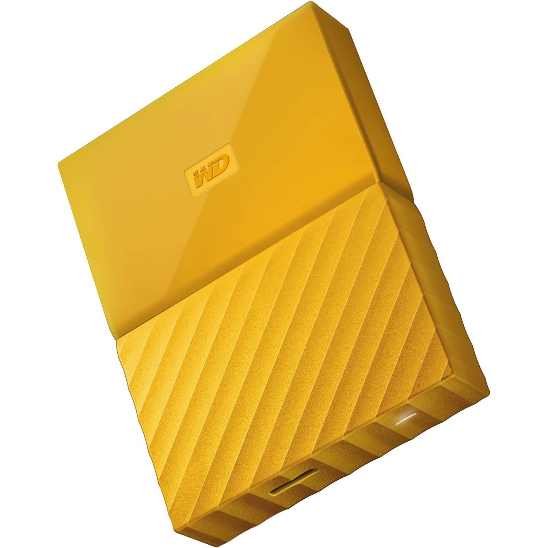 WD 2TB My Passport USB External Hard drive, Yellow