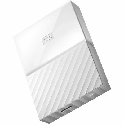 WD 4TB My Passport USB External Hard drive, White