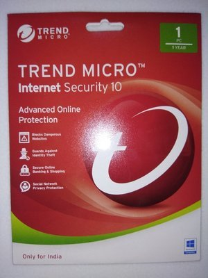 1 User, 1 Year, Trend Micro Internet Security
