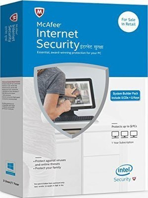 5 User, 1 Year, Mcafee Internet Security