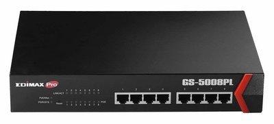 Edimax, GS-5008PL, 8-Port Gigabit PoE+ Web Smart Switch