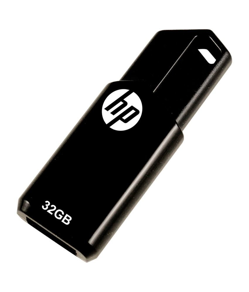 HP 32GB Pen Drive, 2.0, V150W, Black