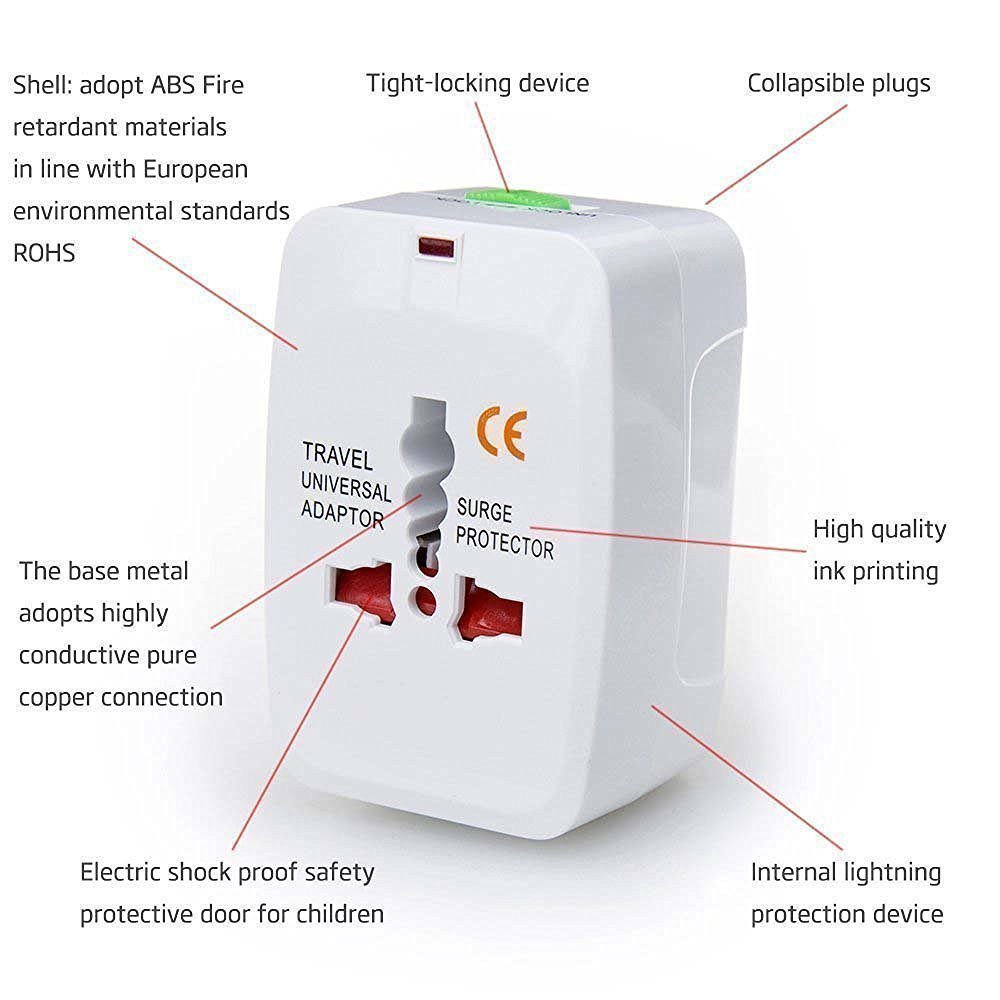 Haze Universal World Wide Travel Charger Adapter Plug