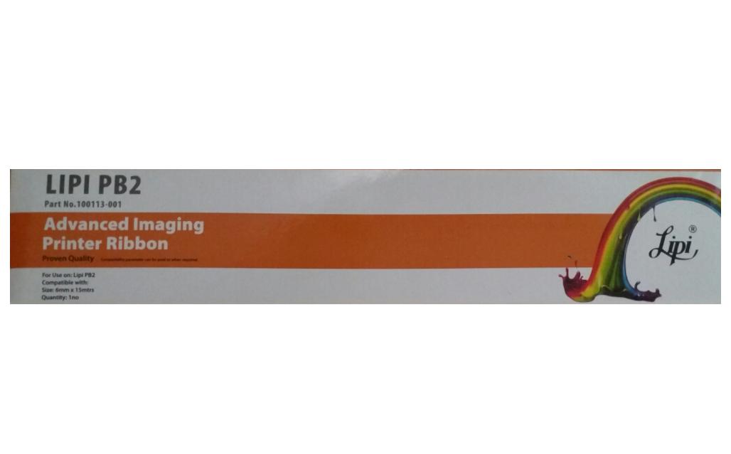 LIPI Pb2 Ribbon Cartridge 100113-001 HSN:96121010