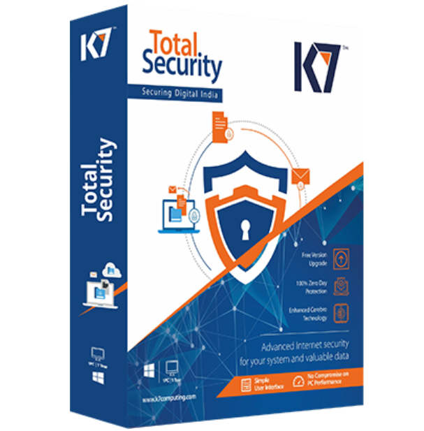 1 User, 1 Year, K7 Total Security, 2019 1PC, K7-TS1 HSN:85238020