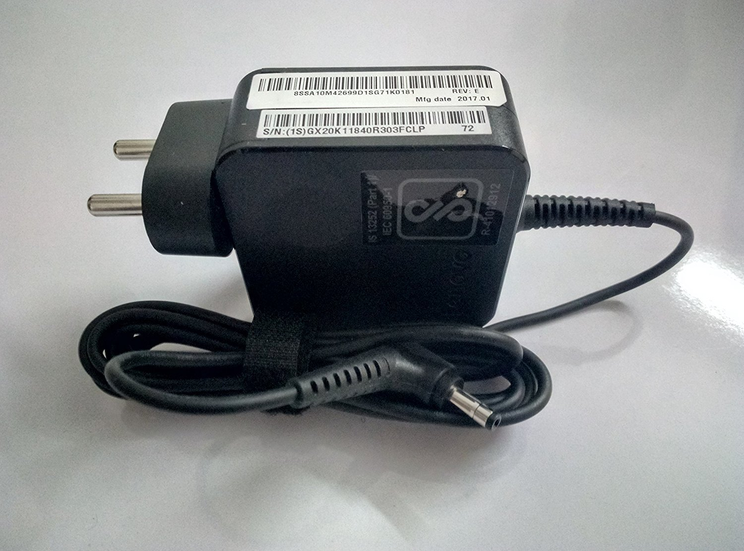 Lenovo 45W AC Wall Adapter, Laptop Charger, IN GX20K11840 HSN:85043100