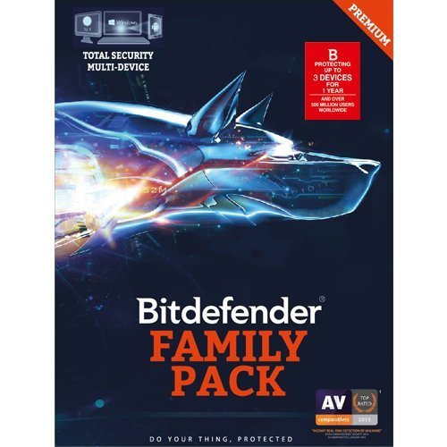 3 User, 1 Year, Bitdefender Total Security, Multi-Device, Family-Pack