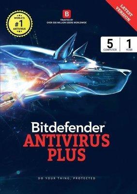 5 User, 1 Year, Bitdefender Antivirus, Plus, 2019