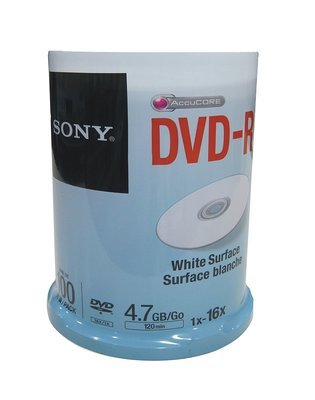 Sony DVD-R White Surface, Pack of 100