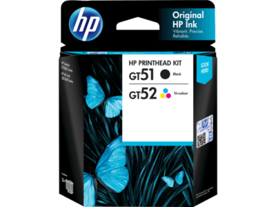 HP GT 51, 52 Printhead Kit, Combo Pack