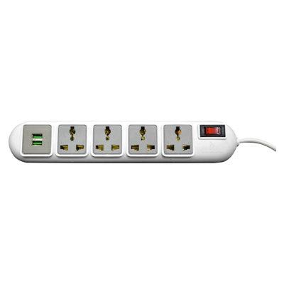Rapoo Ideakard Smart Strip with 2 USB 2.0 Ports 4 Socket Surge Protector SP42U HSN:8536