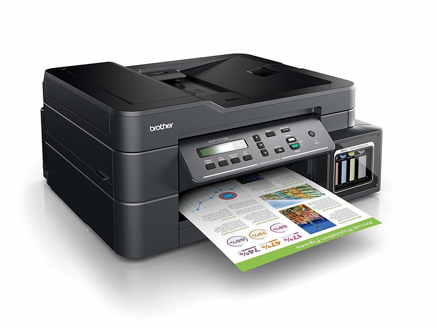 Brother DCP-T710W Ink Tank Refill System Printer, Rs 11872