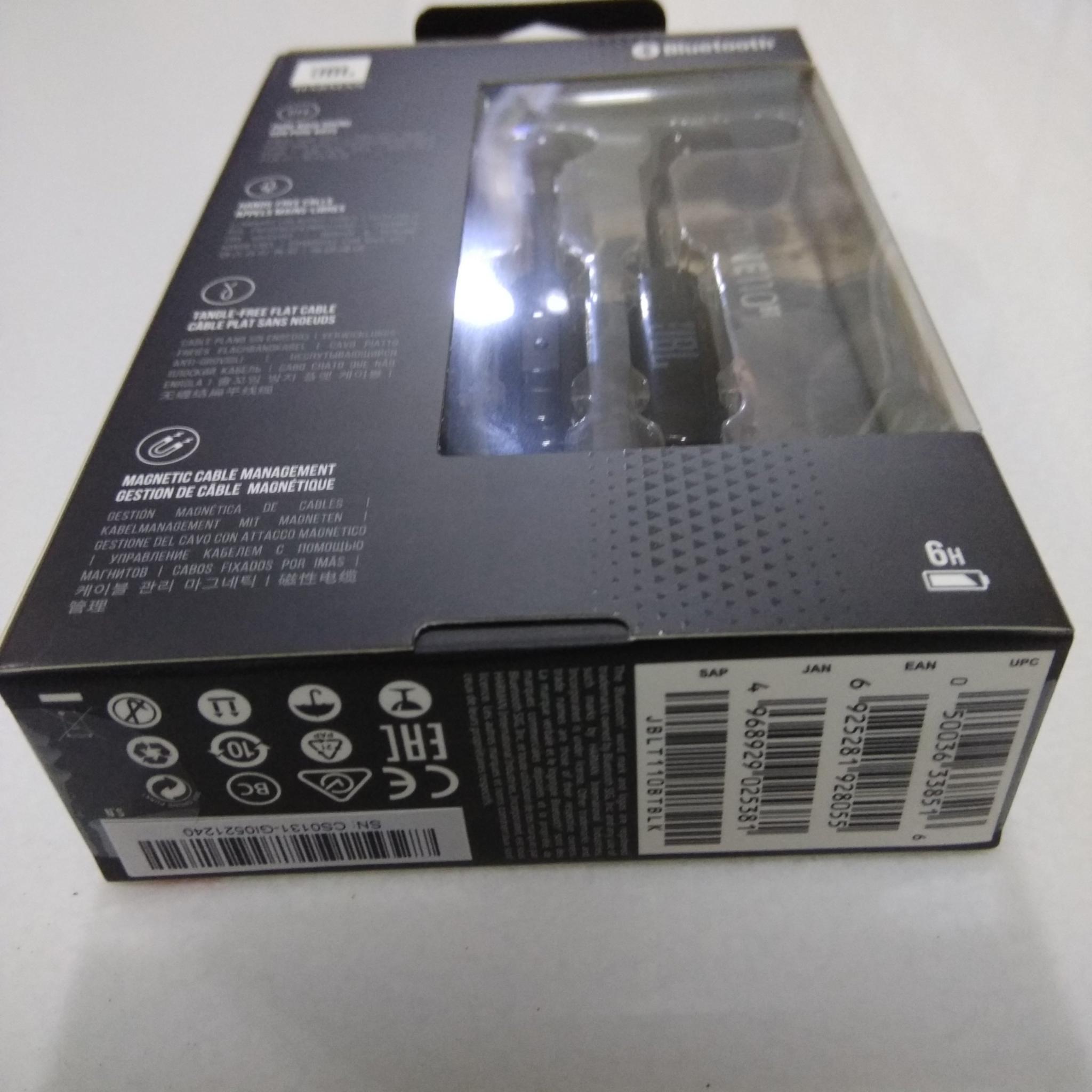 JBL T110BT in-ear Wireless Headphone, Black