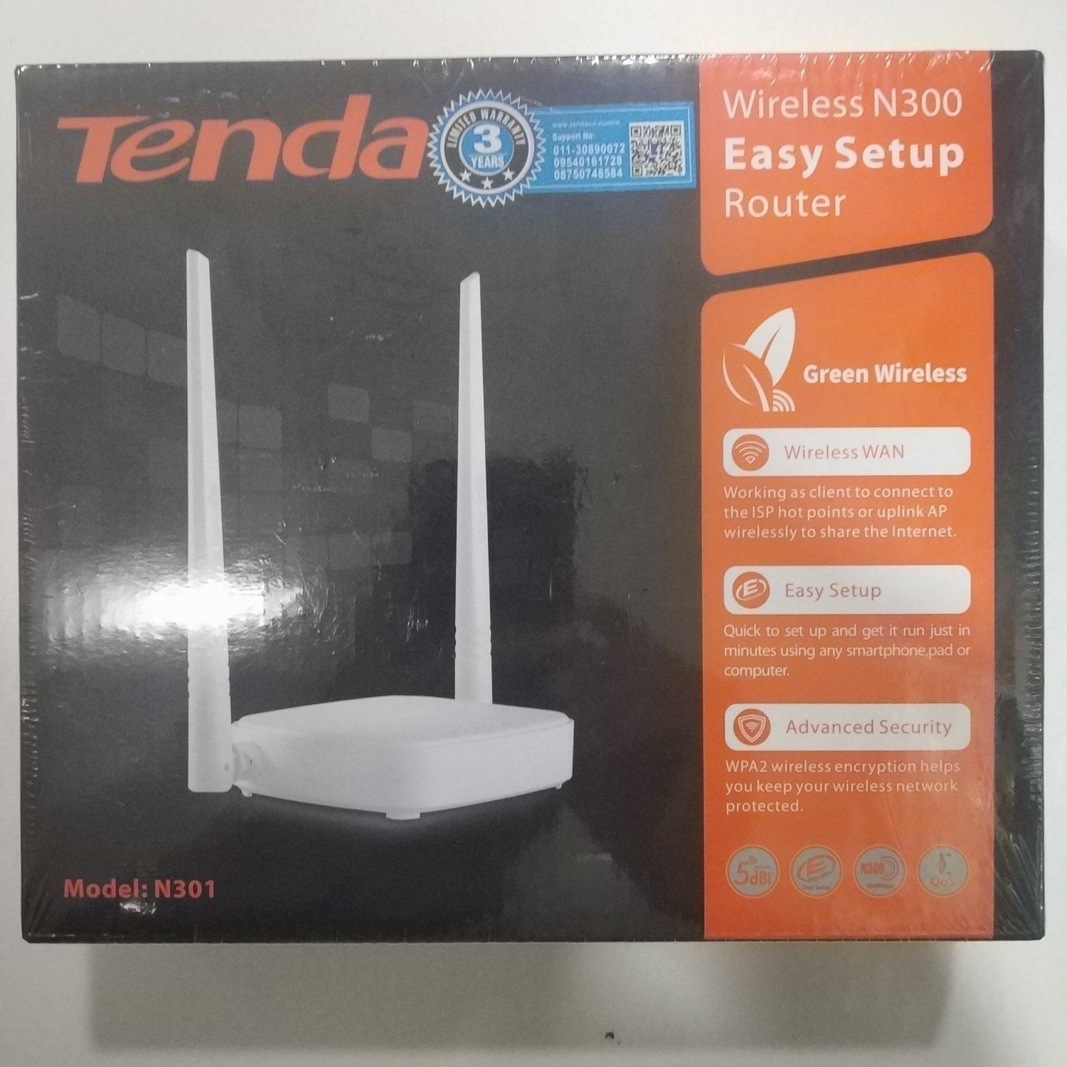 Tenda N301 Wireless-N300 Easy Setup Router, Rs 675