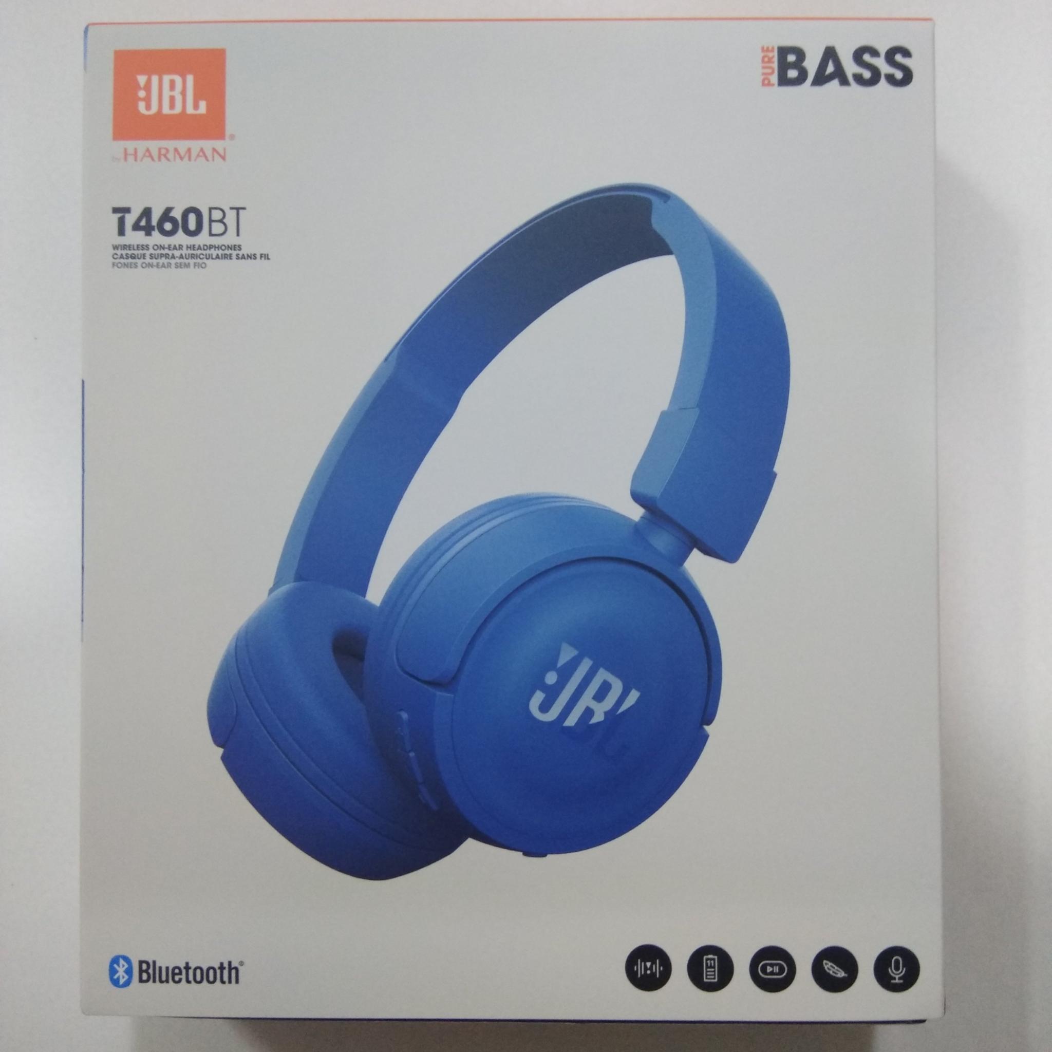 JBL T460BT Wireless Bluetooth on-ear headphones, Blue T460BT-Blue HSN:85183000