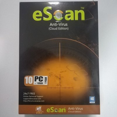 10 User, 1 Year, Escan Antivirus with Cloud Security, V-14.x