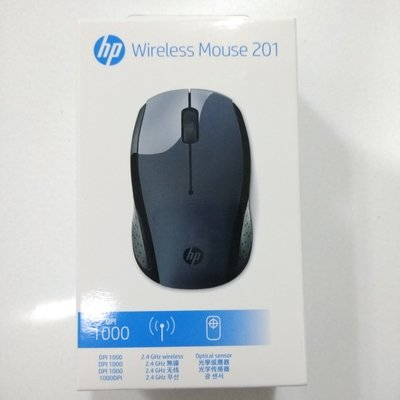 HP Wireless Mouse, 201, Black