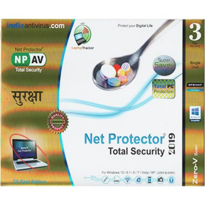 Net Protector Total Security, 2019, 1 User, 3 Year