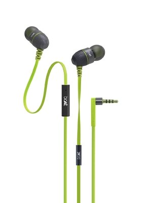 boAt BassHeads 220 In the Ear Headset with Mic, Neon Lime