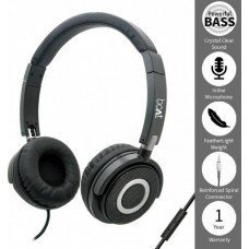 boAt bass Head 910 Wired Headset with Mic, Carbon Black