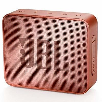 JBL GO 2 Bluetooth Waterproof Speaker, Cinnamon