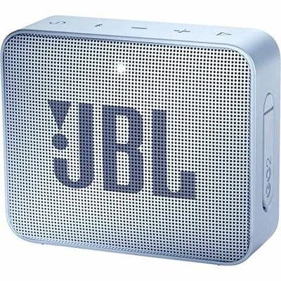 JBL GO 2 Portable Bluetooth Waterproof Speaker, Cyan