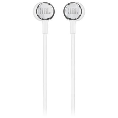 JBL Live 100 in-Ear Headphones with Mic, White