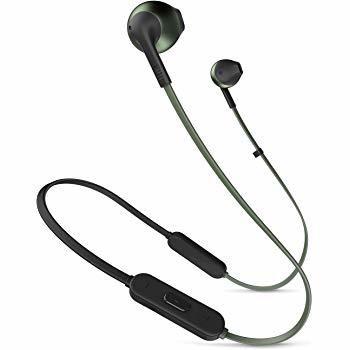 JBL T205BT Pure Bass Wireless Metal Earbud Headphones with Mic, Black