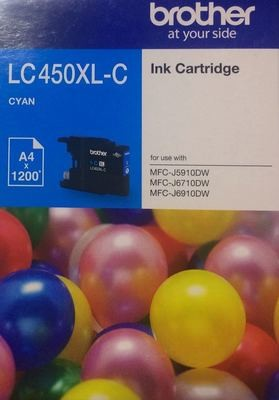 Brother LC450XL Ink Cartridge, Cyan