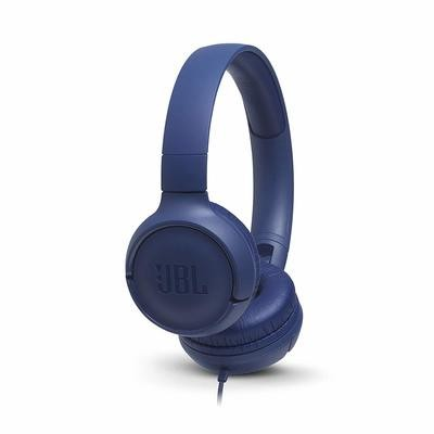 JBL Tune 500 on-ear Headphones, Blue