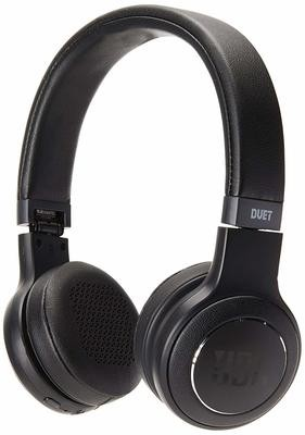 JBL Duet Bluetooth Wireless On-Ear Headphones-Black