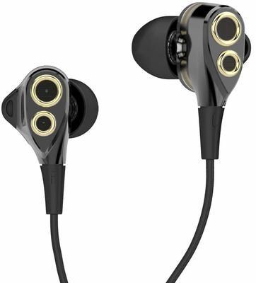 boAt Nirvanaa Deuce Dual Drivers Earphones, Black