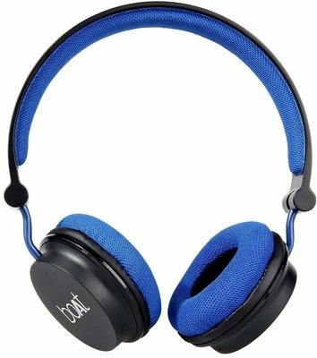 boAt Rockerz 400 Bluetooth On-Ear Headphones, Black & Blue