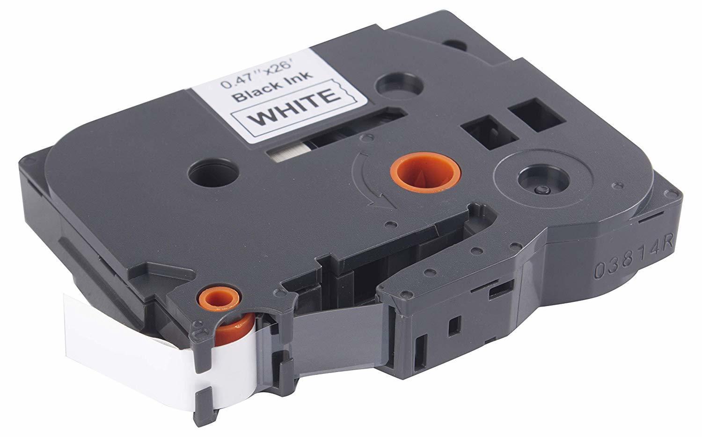 LT 231 Laminated 12mm Black on White Label Tape LT-TZe-231 HSN:84439959