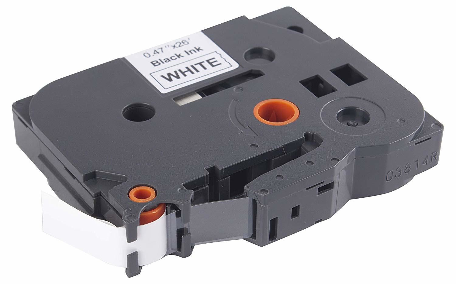 Compatible Tze-231 Laminated 12mm Black on White Label Tape