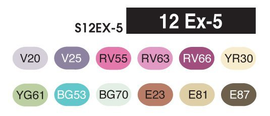 COPIC Sketch 12 EX-5 set