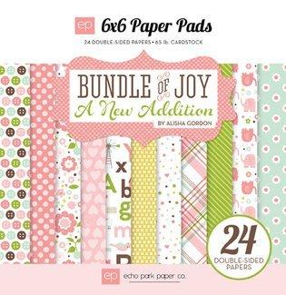Echo Park 6x6 Paper Pads Bundle of Joy Girl