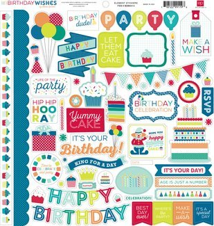 Echo Park Birthday Wishes Boy Element Sticker