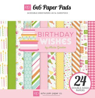 Echo Park Birthday Wishes Girl 6x6 Paper Pad