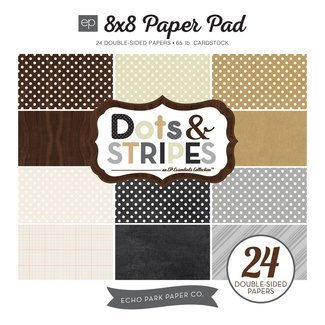 Echo Park Dots and Stripes Neutral - 8x8 Paper Pad