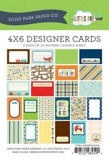 Echo Park Memos - Little Boy 4x6 Cards