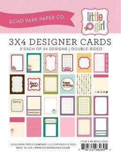 Echo Park Memos - Little Girl 3x4 Cards