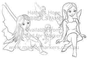 Hatters Hope - Fairies stamp set
