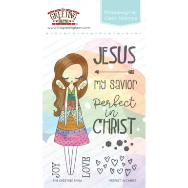 Perfect in Christ clear stamp set