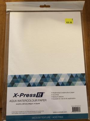 Xpress-It - Aqua Watercolour Paper - 10 Sheets