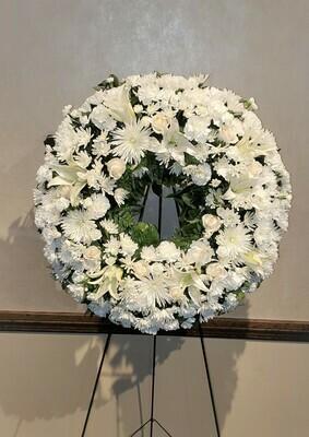Wonderful in White Wreath