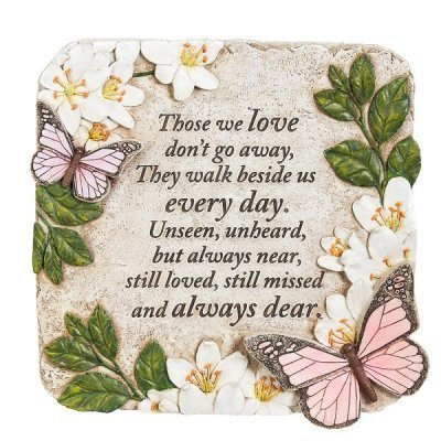 With Love -Those We Love Don't Go Away Garden Stone