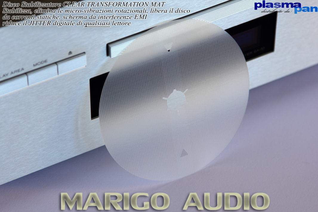 MARIGO AUDIO Clear Transformation Mat - Stabilizzatore CD / SACD / Bluray - Paga a 30gg