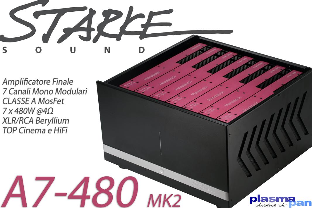 STARKE SOUND A7 MK2 Amplificatore Finale Multicanale 7 x 480W Classe A
